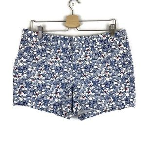 GAP Khakis by GAP Blue Floral 3 inch City Shorts